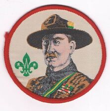 Woven Silk Baden Powell Patch BP Traded at World Jamboree 300194
