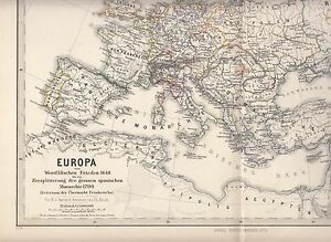 Europe from the Peace of Westphalia to the division of the Spanish Monarchy