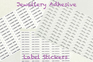 Jewellery Self Adhesive Sterling Silver Composition Labels