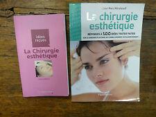 Lot de 2 livres sur la chirurgie esthétique / Pierre Nahon / Marc Mitrofanoff