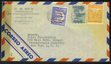 GUATEMALA 1945 AIR MAIL CENSORED TO NEW YORK