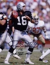 Jim Plunkett SIGNED 11x14 Photos Oakland Raiders + SB XV MVP PSA/DNA AUTOGRAPHED