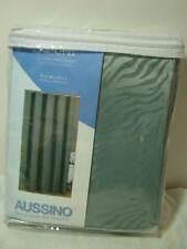 New AUSSINO ZEBRA SPA BLUE JACQUARD Fabric  SHOWER CURTAIN NIP