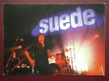 POSTCARD MUSICIANS SUEDE - PLAYING LIVE B30