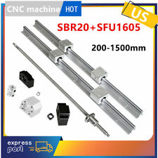 Sfu1605 Ballscrew Kit Bkbf12 Srb20 Linear Rail Sbr20uu Block 300 1500mm Cnc