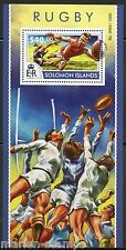 SOLOMON ISLANDS  2015 RUGBY SOUVENIR SHEET  MINT NH