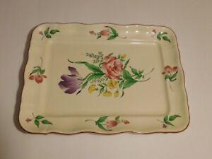 Vintage Luneville Old Strasbourg Rectangular Serving Platter