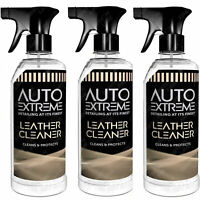 3 x Leather Cleaner Trigger Spray Car Valet Revive Protect Interior 720ml
