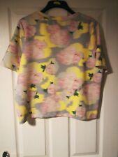 Ladies top shop scuba box style t-shirt size 16 bnwt pastel colours