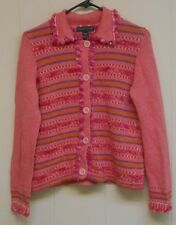 EUC Women's Northern Isles Button Down Cardigan/Sweater, Multi-Colored, Medium.