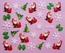 New 2017 Santa Christmas Tree Snowflake Bow Nail Art Sticker Decal Manicure