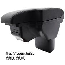 Black Armrest USB Tray For Nissan Juke ESQ 2011-2019 Arm Rest USB Storage Box