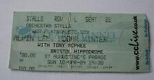 ALVIN LEE EDGAR WINTER TONY MCPHEE Concert Ticket Stub 2004 Bristol Hippodrome