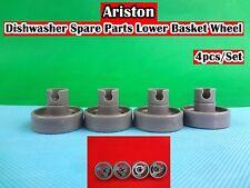 Ariston Dishwasher Spare Parts Lower Basket Wheel 4pcs/set - Grey (D24) NEW