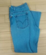 Womens Levi's Relaxed Boot Cut Stretch Jeans Size 14 Distressed Light Blue Wash!