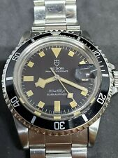 1970s Tudor Submariner Date Black Snowflake Ref. 94110 with Service Papers