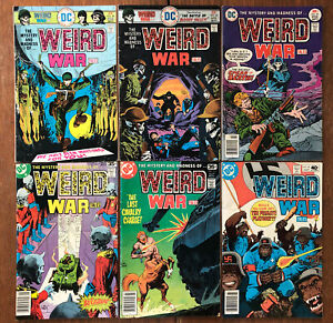 Weird War Tales lot of 6 (1976-80, DC) Joe Kubert covers; Nazi Apes cover/story