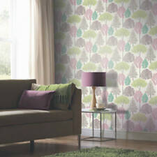 Ellwood Multi Trees Glitter Sparkle Feature Wallpaper Arthouse 670000