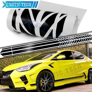 86 Inch Auto Side Fender Door Black Stripes Sticker For Hyundai Elantra Veloster