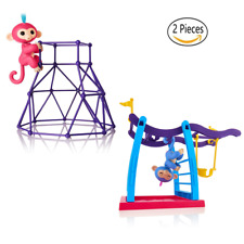 2 Pack Swing Set+Jungle Gym Playset  for Fingerlings Monkey Kids Christmas Gift