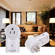 2 Pack Remote Control Wireless Power Outlets Light Switch Socket US Plug AC 120V