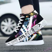 Fashion Mens Sneakers Shoes Lace Up Sport Painting Board Athletic Outdoor