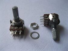 5 pcs B20K Dual Stereo Potentiometer Pots 20mm Shaft S