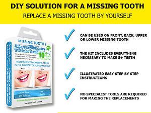 ToothFIX - DIY MISSING TOOTH TEMPORARY REPLACEMENT TEETH REPAIR FALSE TEMP TOOTH