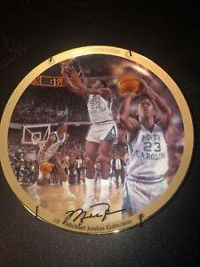 "Micheal Jordan Collector Plate "" 1982 NCAA Championship"" 8 1/4"