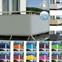 Balkon Sichtschutz Zaun Premium Balkonbespannung mit Ösen und Kabelbinder PVC