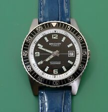 Vintage 60's BRICHOT Divers Swiss Made Watch Attractive Dial Rotating Bezel