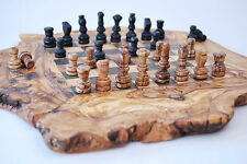 Olive wood chess board / Natural Chessboard with free pieces / CHESS BOARD GAME