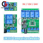 DC 5/12/24V LM393 Comparator 1/2/4 Channel Voltage Comparion Module Relay Switch