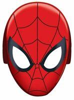 SPIDERMAN WEBBED WONDER PAPER MASKS PACK OF 8 BIRTHDAY PARTY SUPPLIES