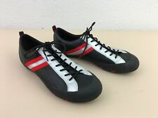 Mens shoes ECCO Receptor black red lace up leather sneakers sz 8 8.5 US 42 EU