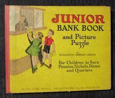 1941 JUNIOR BANK BOOK by Elizabeth Childs HC G/VG 3.0 Platt & Munk Co.