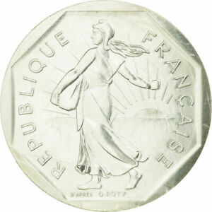 [#726633] Coin, France, 2 Francs, 1981, Paris, Piéfort, MS(65-70), Silver