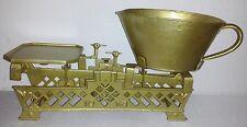 Waage antik bis 10 kg Metall Jugendstill um 1900