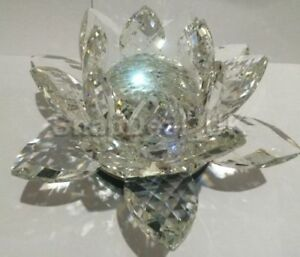 Extra large Big Clear Lotus Ornament Figurines Home Wedding Party Decor Gifts_UK