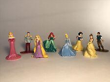Disney Princess Polly Pocket Dolls Lot of 6 PLUS BONUS PRINCES