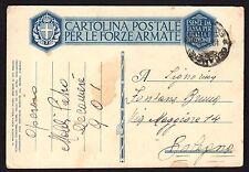 CARTOLINA Militare in franchigia 1936 da Decamerè a Bologna (FSX)
