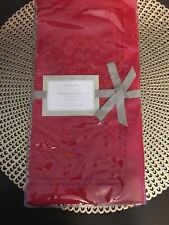 Williams-Sonoma Hemstitched Linen Red Hemstitch Dinner Placemats 4 Placemats