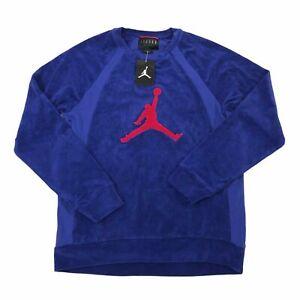 Air Jordan Jumpman Terry Crewneck Sweatshirt deep royal AV3110-455 Mens M/medium