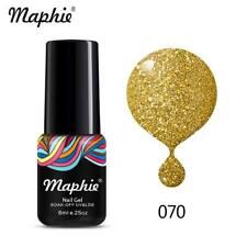 Maphie 6ml Soak Off Color Gel Polish Collection Base Top Coat Lacquer Nail Art