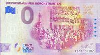 BILLET 0  EURO  KIRCHENRAUN FUR DEMONSTRANTEN ALLEMAGNE 2021  NUMERO DIVERS