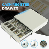 Cash Register Drawer Box 5 Bill 5 Coin Money Lock Storage with Removable Tray