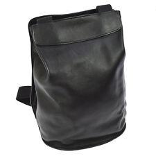 Authentic HERMES SHERPA Backpack Bag Black Veau Gulliver France Vintage N20332