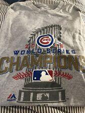 NWOT Chicago Cubs 2016 World Series Champions Locker Room T-Shirt Men's XL Tee