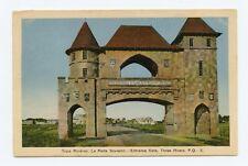 Entrance Gate, Three Rivers, Quebec, Canada Color Postcard