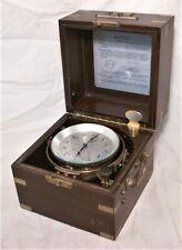 Hamilton Mod 21 Marine Chronometer W/ Up-Down Indicator Running In Original Case